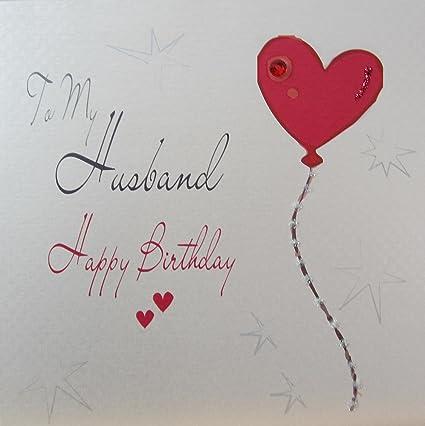 Amazon White Cotton Cards Wb194 Heart Balloon To My Husband