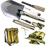 BANG TI Super High Strength Military Folding Shovel (15-in-1 Multifunction) A Must-have for Off Road and Outdoor Survival, w/ Portable Tool Bag