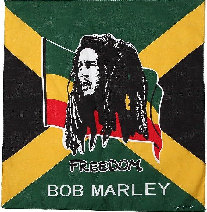 "NEW JAMAICAN  FLAG  DESIGN JAMAICA BANDANNA 100/% COTTON 22x22/"" HEAD WRAP SCARF"