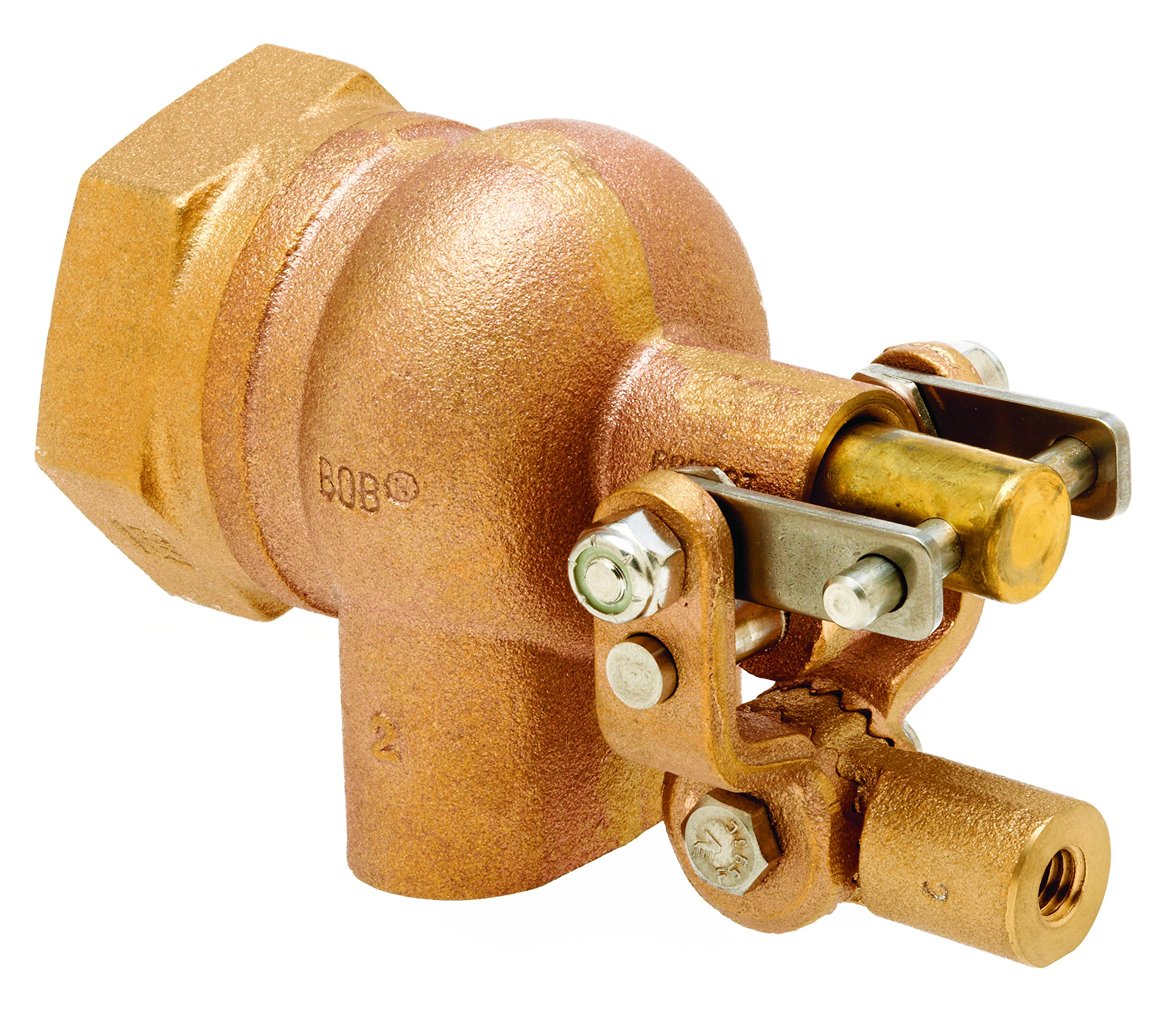 Robert Manufacturing R605T-5 High Turbo Series Bob Red Brass Float Valve Assembly with Stem, 3/4'' NPT Female Inlet x Free Flow Outlet, 115 psi Pressure by Robert Manufacturing (Image #1)