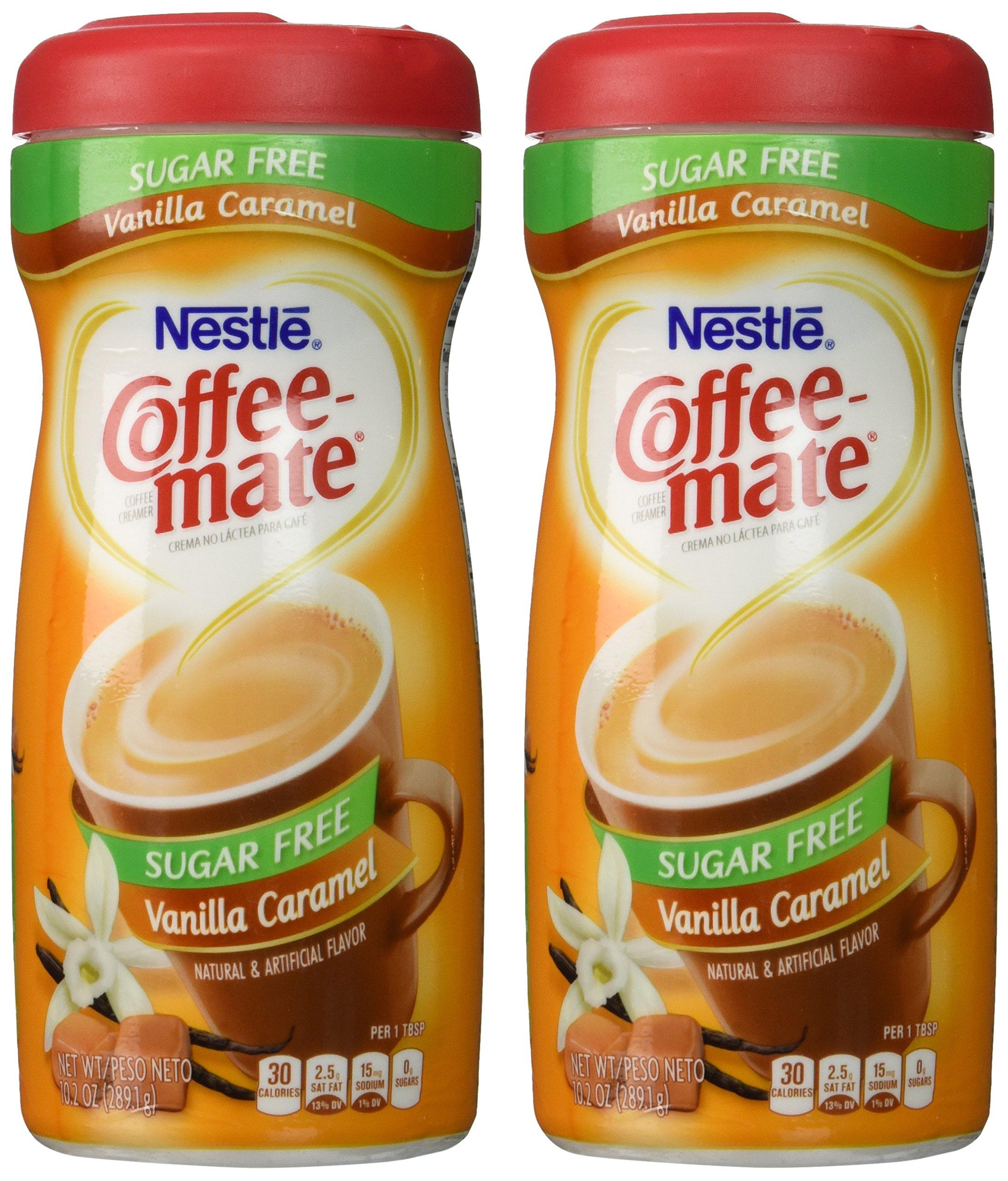 Coffee Mate Sugar Free - Vanilla Caramel Flavoured Coffee Whitener - Powder Creamer for Coffee, 289grams (Pack of 2)