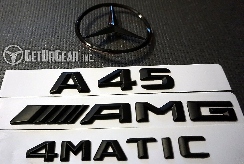 Amazon.com: A Class Mercedes Benz Black Rear Badges CLA45 A45 AMG 4MATIC C117 (Matte, A45 AMG): Automotive