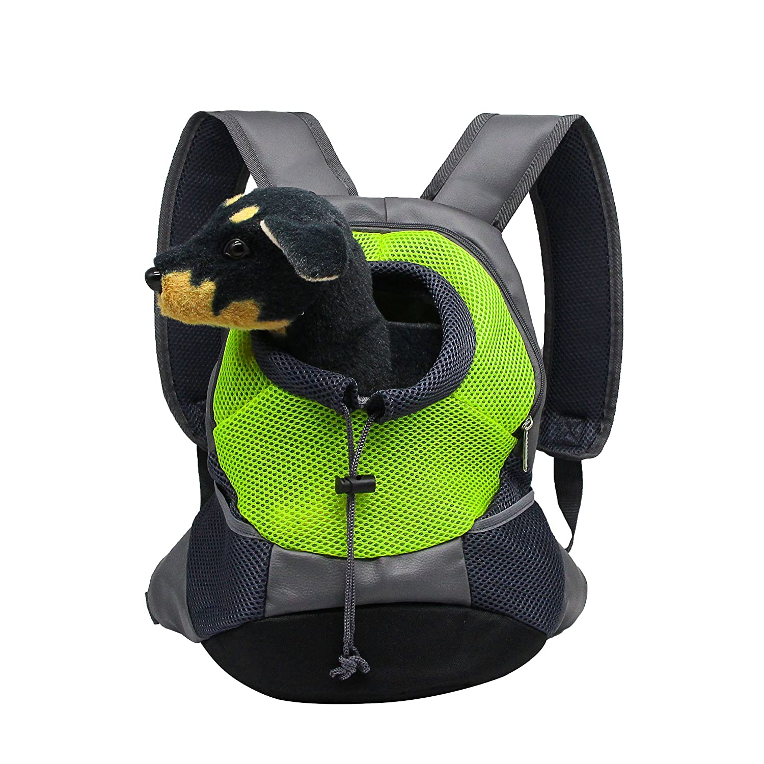 Light Green S Light Green S YAODHAOD Dog Cat Pet Carrier Backpack Pet Dog Cat Portable Backpack, Breathable Mesh, Adjustable Filled Shoulder Front Bag for Bicycle Hiking Outdoor (S, Light Green)