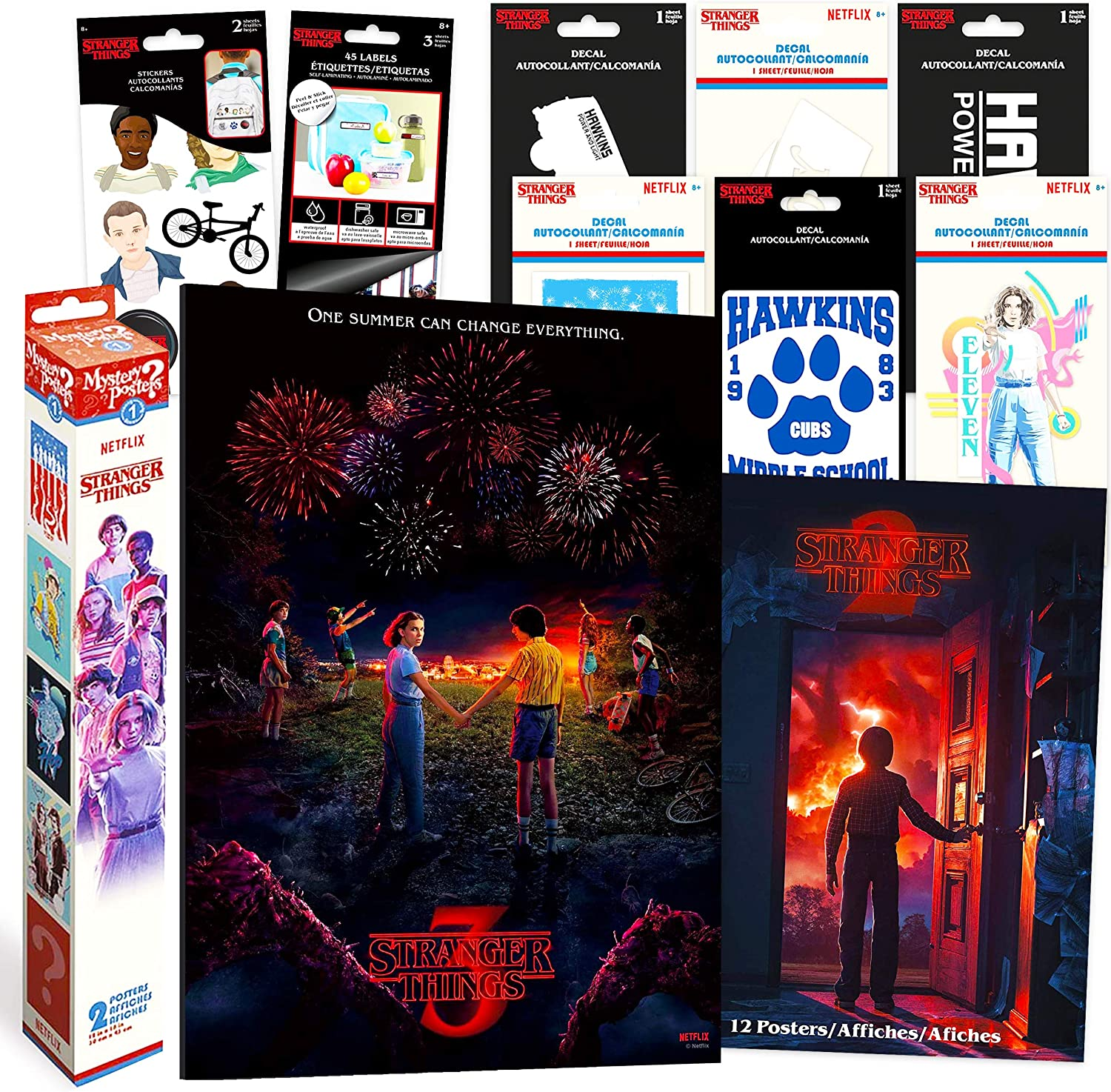 Stranger Things Artwork Decorations Wall Art Ultimate Bundle ~ 78 Pcs Stranger Things Posters, Stickers, Decals for Walls Laptop Car (Stranger Things Room Decor for Girls Boys Teens)