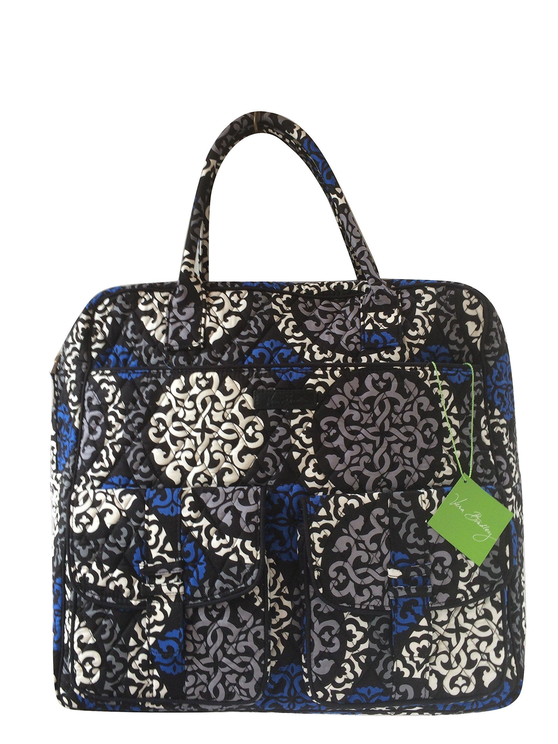 Vera Bradley Grand Cargo Travel Bag Canterberry Cobalt with Blue Interior