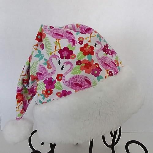 Amazon.com: Flamingo Santa Hat, Tropical Christmas Santa Hat, Island Style  Christmas, Tree Topper: Handmade - Amazon.com: Flamingo Santa Hat, Tropical Christmas Santa Hat, Island