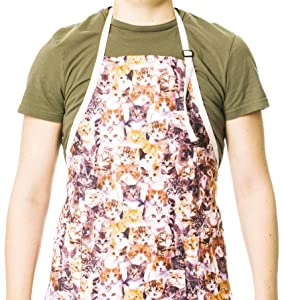 Funny Guy Mugs Kittens Adjustable Apron with Pockets - Funny Apron for Men and Women - Perfect for Kitchen BBQ Grilling Barbecue Cooking Baking Crafting Gardening