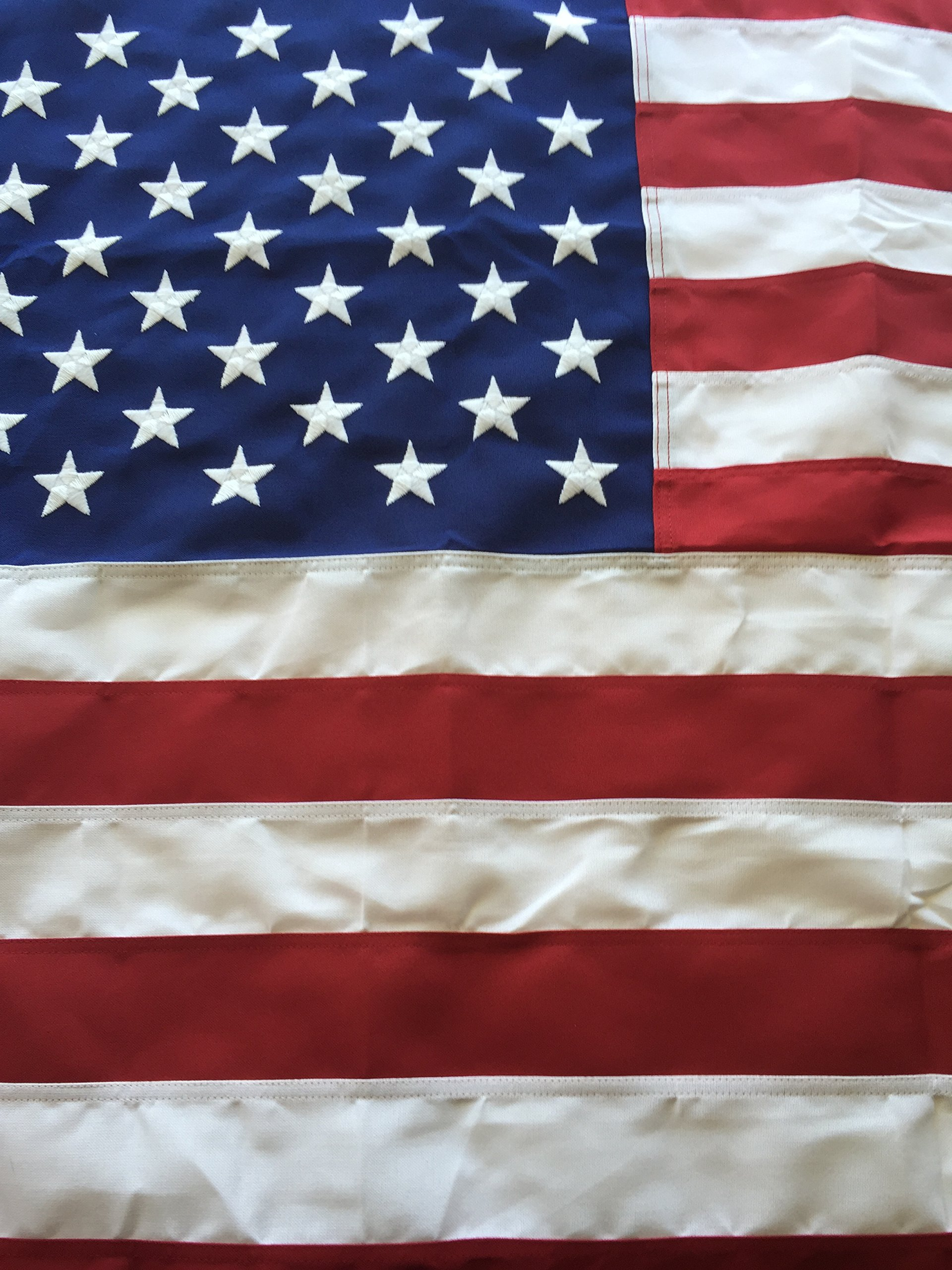 10x15 Best Commercial Grade Polyester American Flag 10'x15' US Flag Made in the USA Embroidered Stars Sewn Stripes by Flags Poles And More by Flags Poles And More
