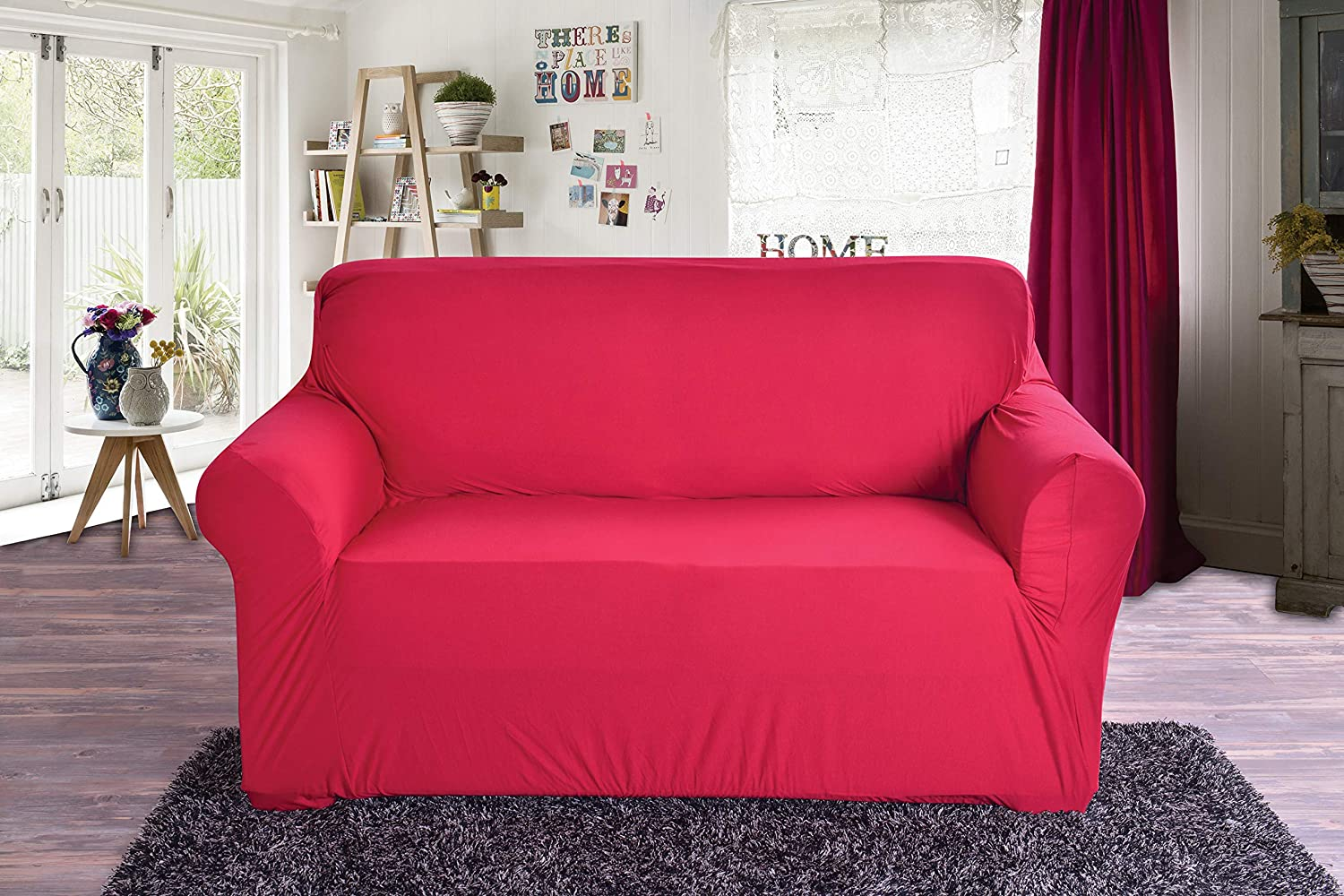 Elegant Comfort Collection Luxury Soft Furniture Jersey Stretch SLIPCOVER, Sofa Ruby