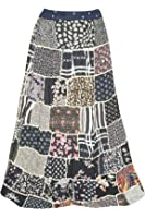 Mogul Interior Womens Gypsy Skirt Maxi Patchwork Boho Chic Large
