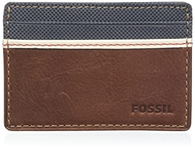 Fossil Elgin Men S Wallet Braun Brown 0 6x7x7 6 Cm B X Ht