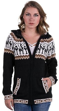 4fc7f5006c70 Gamboa - Alpaca Cardigan with Zip-Front and Hood for Women ...