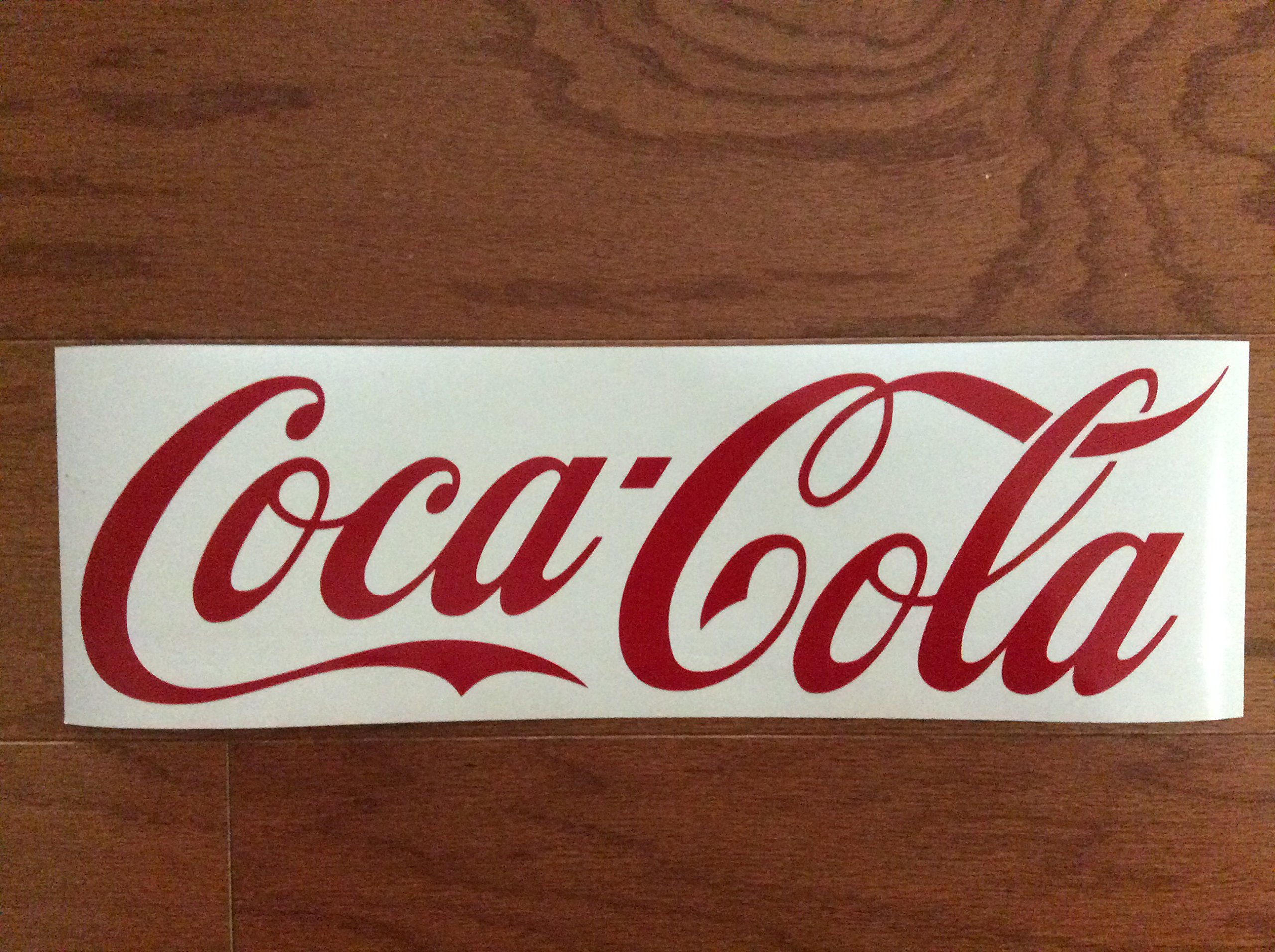 Coca Cola Red Decal Sticker Laptop Wall Notebook Car Die-cut Red Decal Sticker
