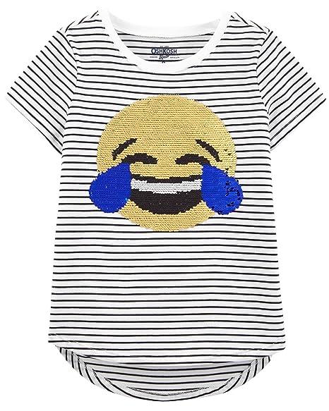 40c463983 Amazon.com: OshKosh B'Gosh Kids' Little Girls' Sequin Short-Sleeve T ...