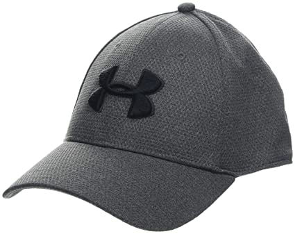 Under Armour Mens Heather Blitzing Cap Gorra, Hombre, Gris (Jet Gray/Black