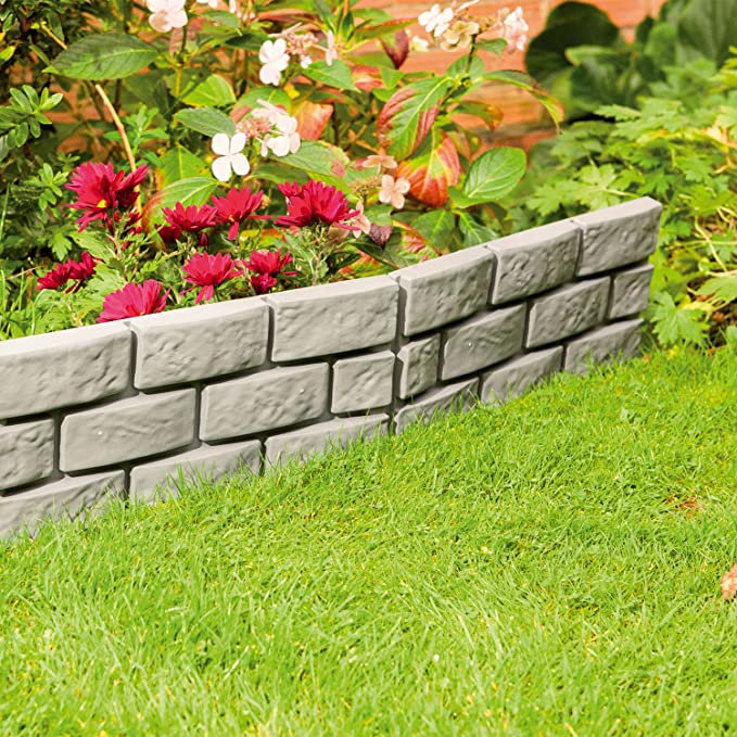 Separador Parkland® Instant efecto ladrillo para jardín: Amazon.es: Jardín