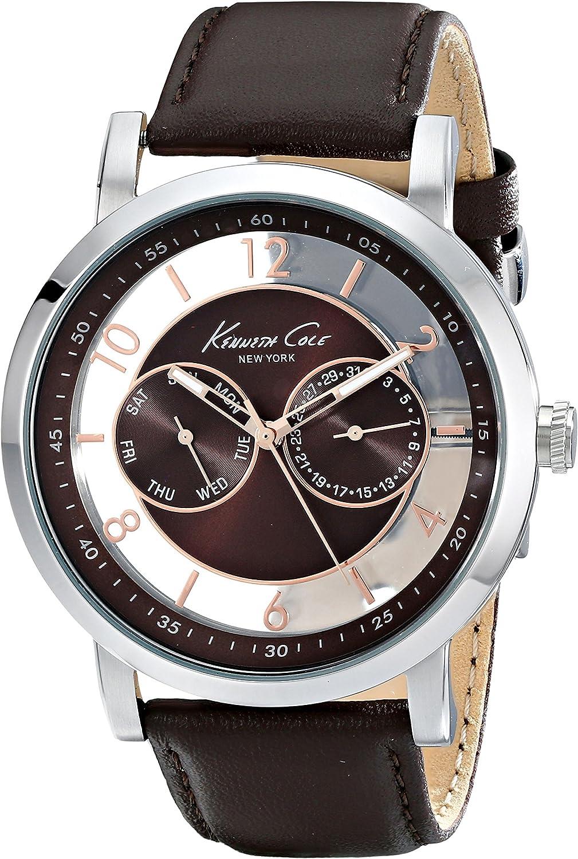 Kenneth Cole New York Men s KC8080 Dress Sport Analog Display Analog Quartz Brown Watch
