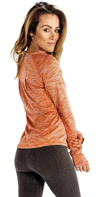 dddf73d521b95 Peach Light Orange Women Full Sleeve Tee (Large) at Amazon Women's Clothing  store: