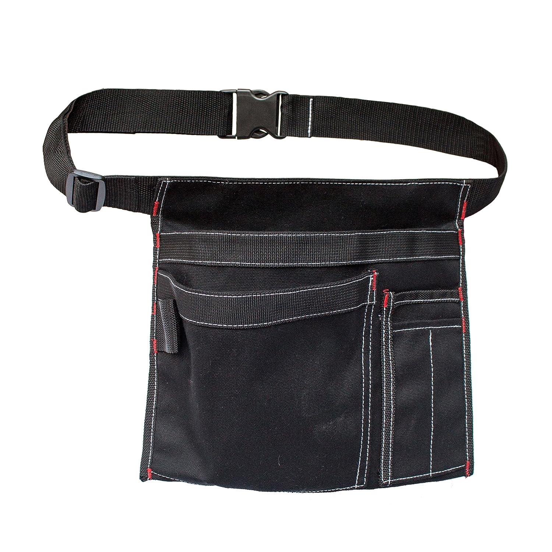 MDSTOP sola cara bolsa de herramientas delantal con 5 bolsillos y 1 martillo bucle, Fits para martillo, lá pices, destornilladores etc. lápices