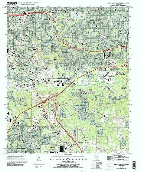 Map Of Southeast Georgia.Amazon Com Yellowmaps Southeast Atlanta Ga Topo Map 1 24000 Scale