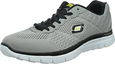 Skechers FLEX ADVANTAGE 3.0 Boys Lace-Up Padded Running Trainers Navy Charcoal