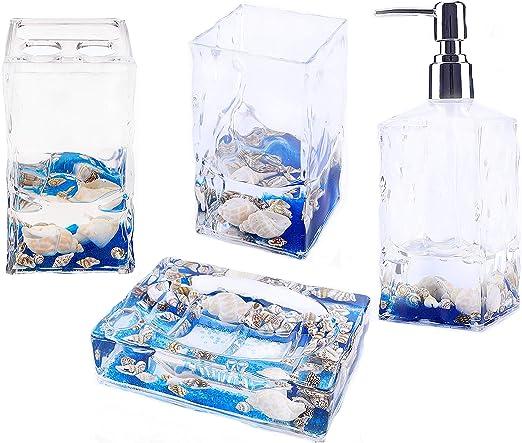 Artistic Clear Rose Petals Acrylic Soap Dish Case Dispenser Bathroom Accessory