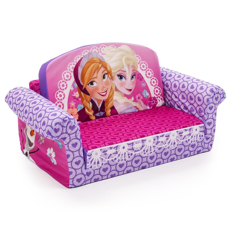 amazoncom marshmallow furniture disney frozen flip open sofa  - amazoncom marshmallow furniture disney frozen flip open sofa toys  games