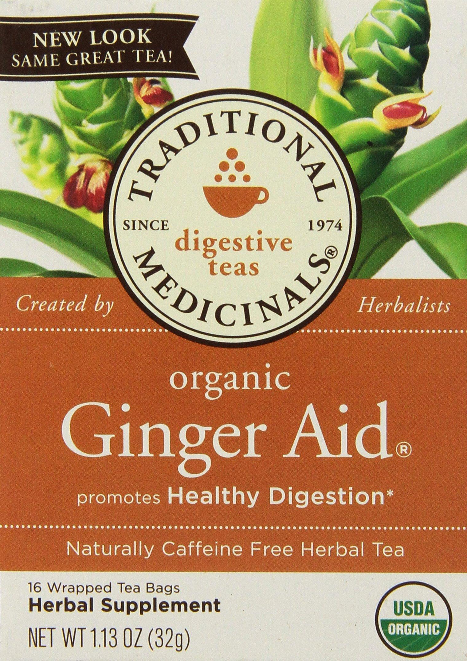 Traditional Medicinals Organic Ginger Aid Tea, 16 Tea Bags