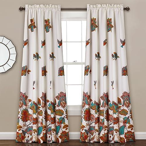 Editors' Choice: Lush Decor Lush D cor Bird and Flower Room Darkening Window Curtain Panel Pair Set