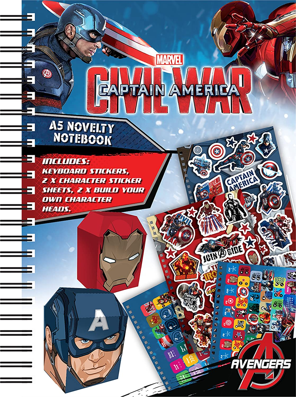 Anker Captain America A5 Novelty Notebook CANNB