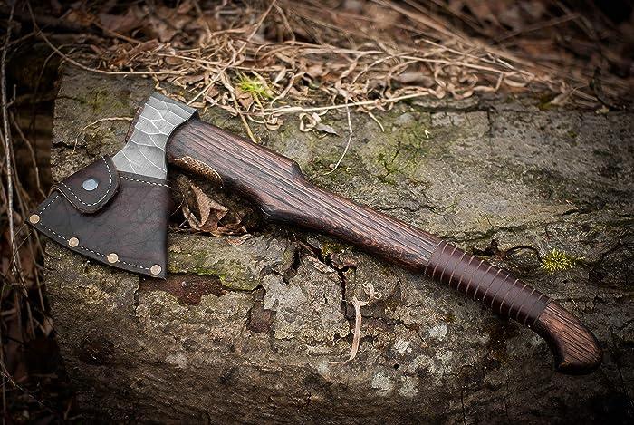 Amazon com: Hand forged Viking axe High carbon steel handmade