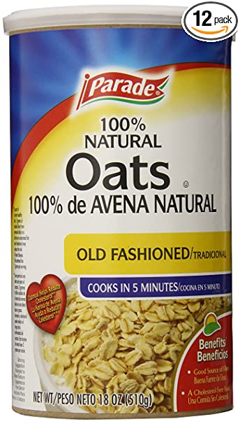Parade Old Fashioned Oats, 18 Ounce (Pack of 12)