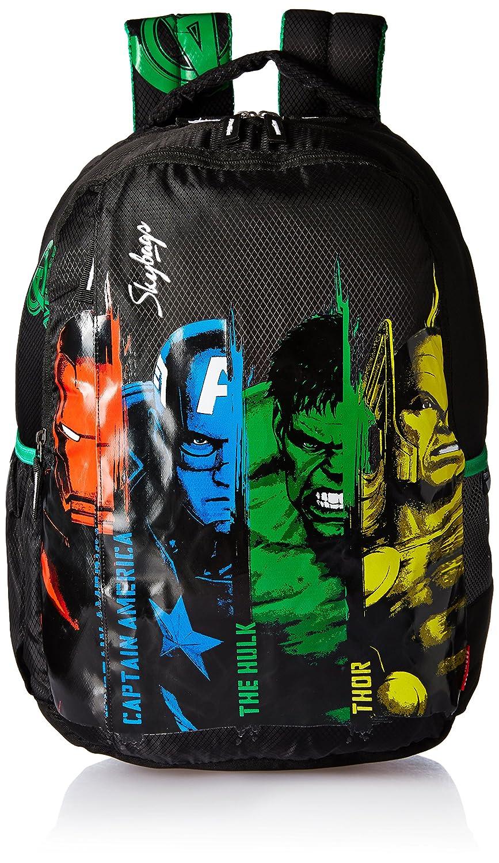 Skybags SB Marvel 32 Ltrs Black School Backpack (SBMARAS1BLK)
