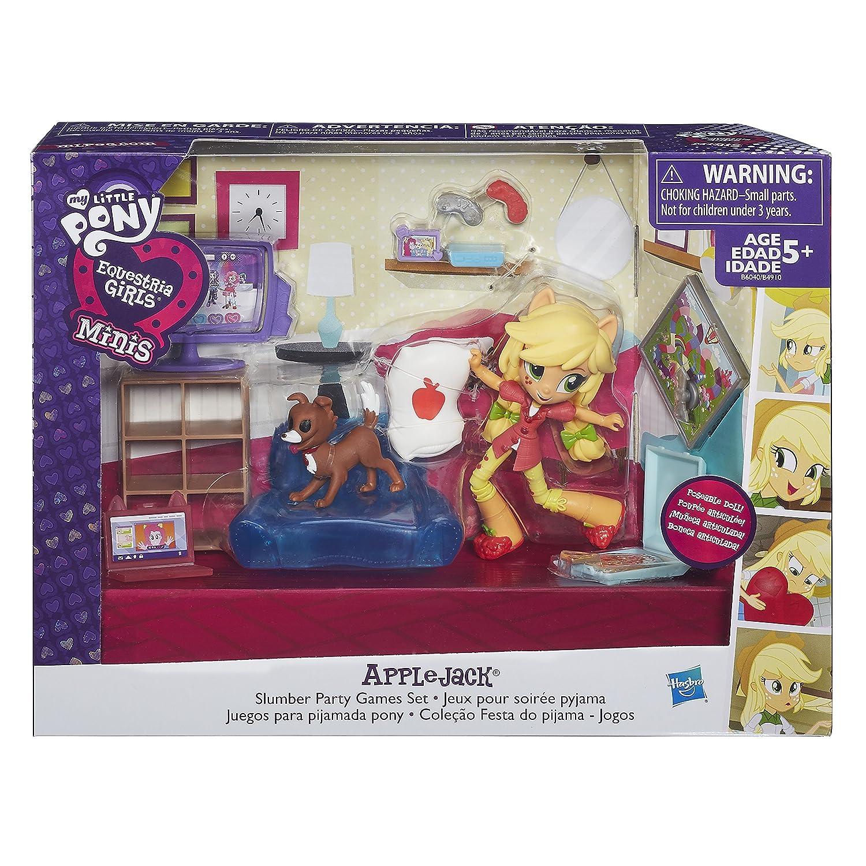 Amazon.es: My Little Pony - Equestria Girls Minis Applejack Slumber Party Juegos Set: Juguetes y juegos
