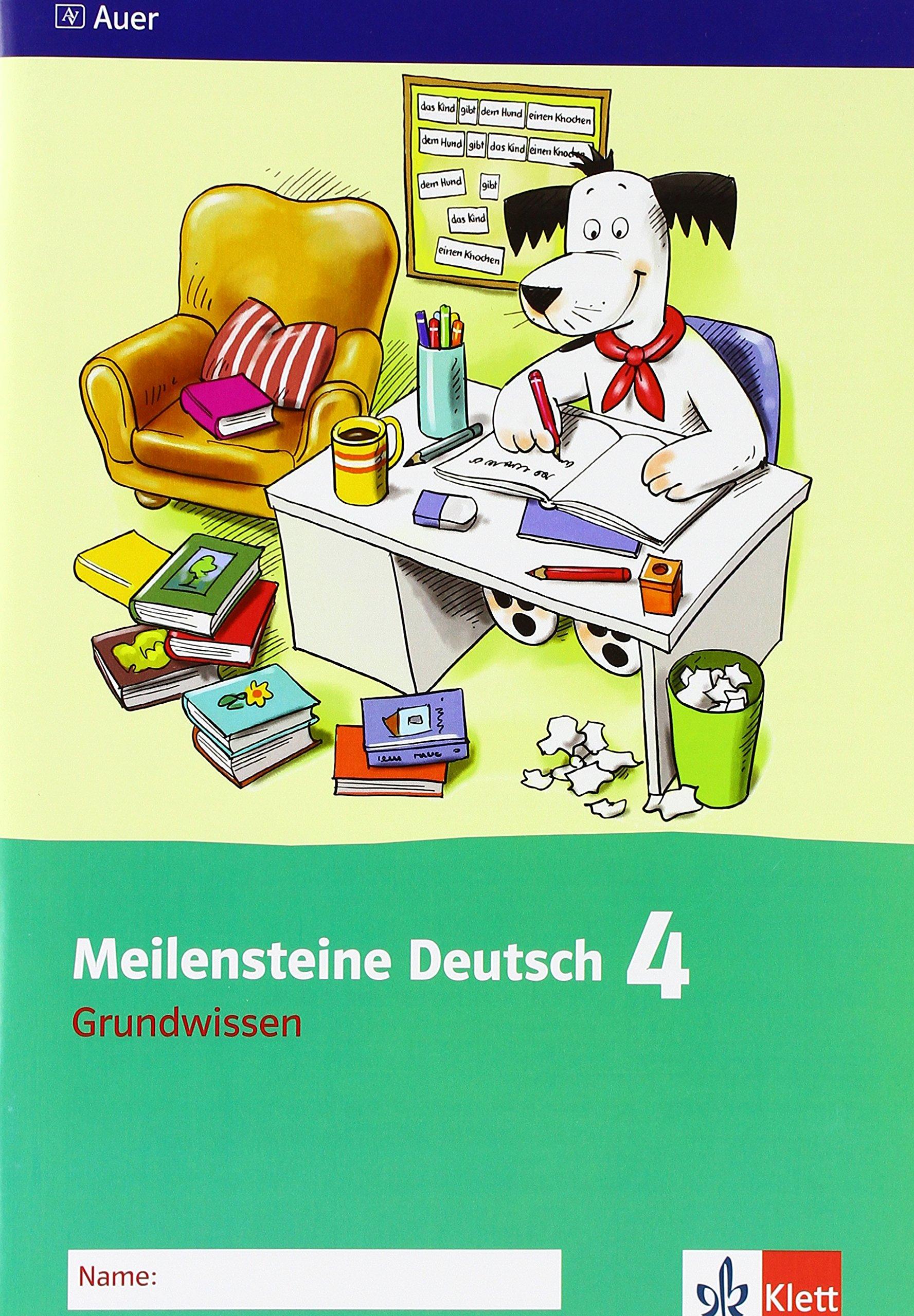 Meilensteine Deutsch 4. Grundwissen - Ausgabe ab 2013: Arbeitsheft Klasse 4