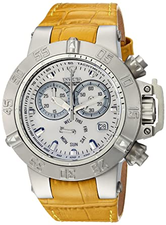Invicta Womens Gabrielle Union Quartz Stainless Steel and Leather Casual Watch, Color Beige