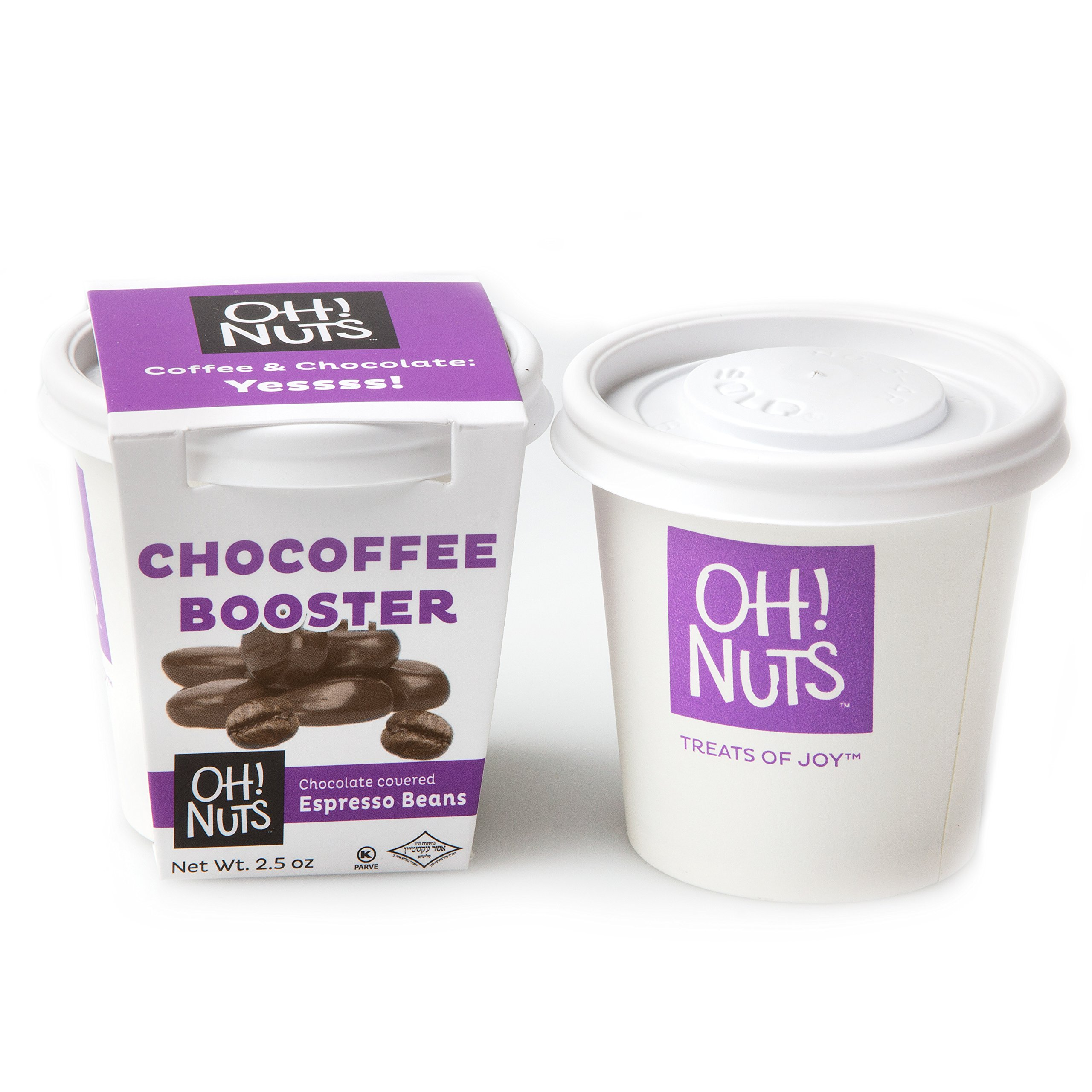 Chocolate Covered Espresso Beans, Chocofee Booster Coffee Gifts, Dark Chocolate Covered Roasted Coffee Beans, Great on the GO or as Gift Pack - Oh! Nuts by Oh! Nuts