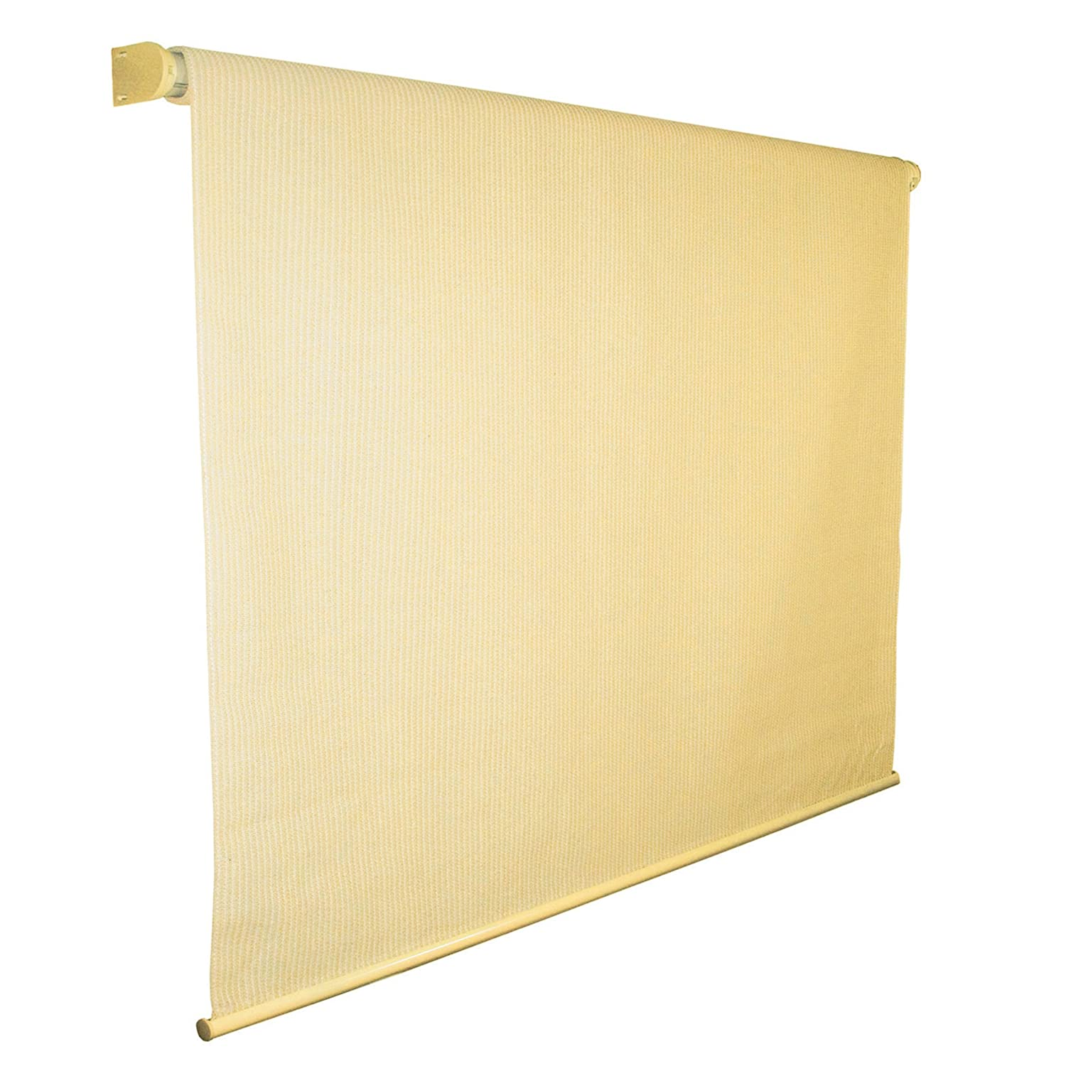 Coolaroo Exterior Roller Shade, 8 by 6-Foot, Almond
