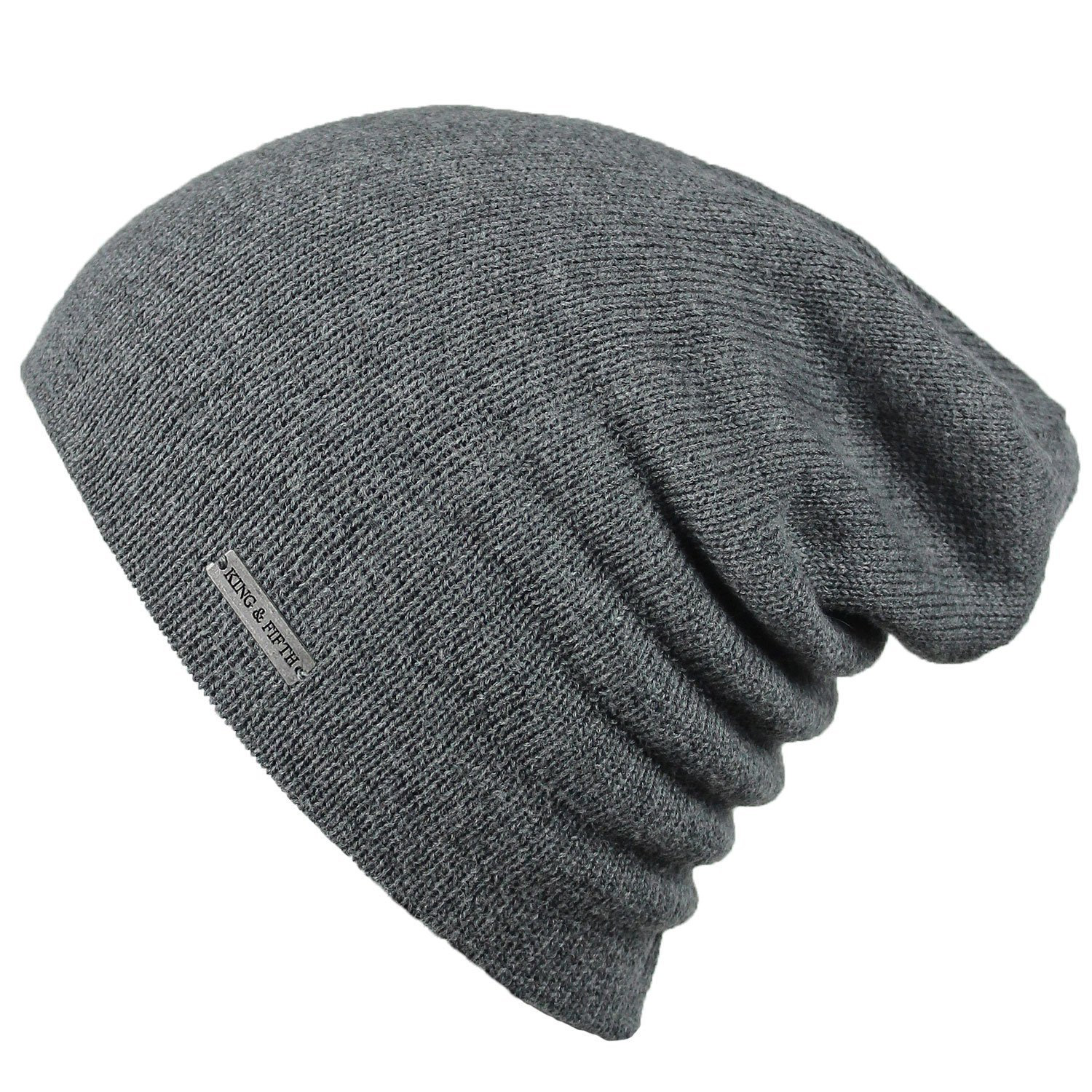Summer Beanie by King & Fifth | Slouchy Beanie for Men & Women + Breathable Cotton Beanie and Perfect for Warm Weather + Grey Beanie