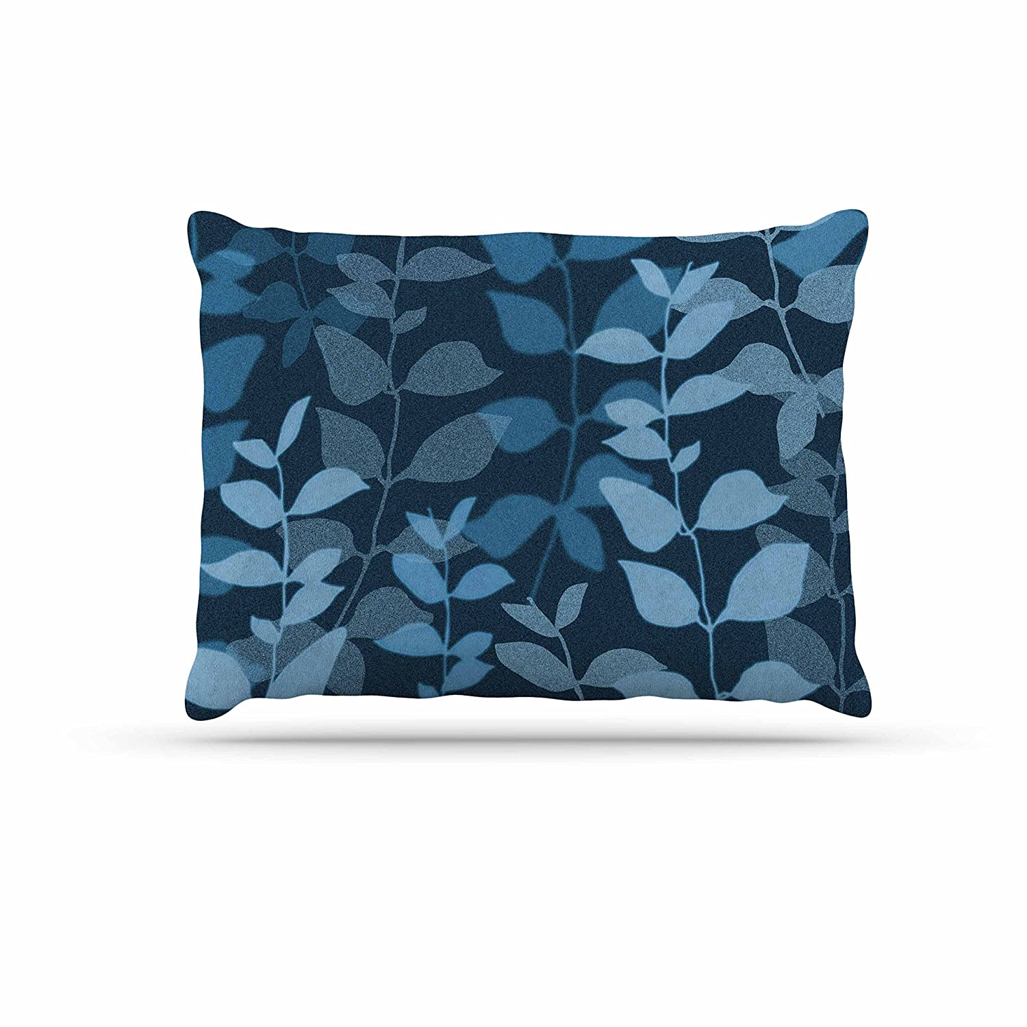 KESS InHouse Carolyn Greifeld Leaves of Dreams bluee Dog Bed, 30  x 40