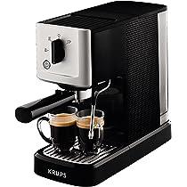 Krups Espresso Intenso Calvi Meca XP344010 - Cafetera compacta de 15 bares de presión y sistema electrónico de regulación térmica, boquilla de vapor ...