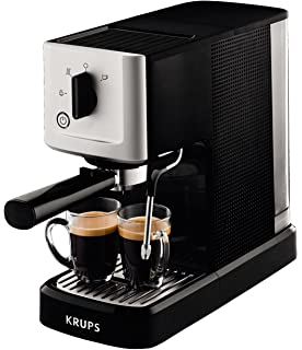 KRUPS Steam & Pump Máquina De Espresso, 1400 W, Acero Inoxidable, Negro/Plateado: Amazon.es: Hogar