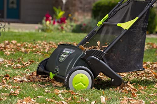 Earthwise LSW70021 21-Inch Leaf & Grass Push Lawn Sweeper