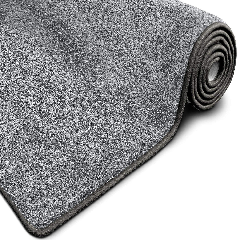 Casa pura Glitzer-Teppich Memphis   viele Größen   mit eingewebten Glitzerfäden   Flurteppich, Wohnzimmerteppich, Küchenteppich, Schlafzimmerteppich (Anthrazit - 200x300 cm) B07GSTH3NN Teppiche