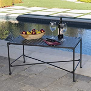 Kent Outdoor Black Iron Coffee Table