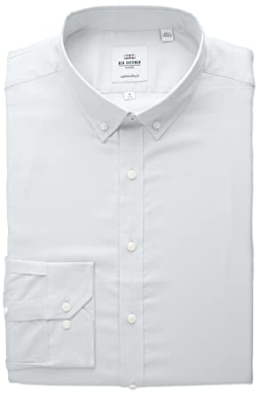 Amazon.com: Ben Sherman Men's Slim Fit Oxford Button-Down Collar ...