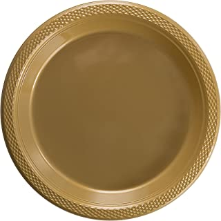 Exquisite 9 Inch. Gold plastic plates - Solid Color Disposable Plates - 100 Count  sc 1 st  Amazon.com & Amazon.com: Hanna K. Signature Collection 50 Count Plastic Plate 9 ...