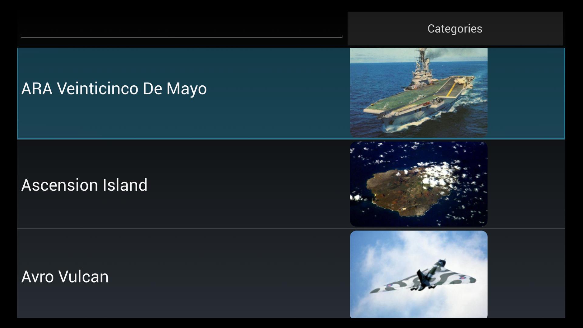 Falklands guerra Trivia Quiz