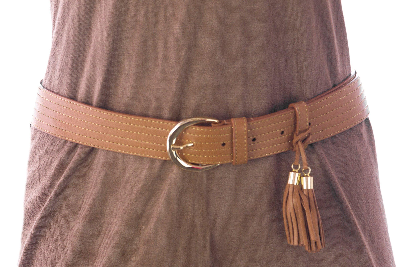 Max Mara Women's Locri Leather Tassel Belt Medium (33'') Tobacco by MaxMara (Image #1)
