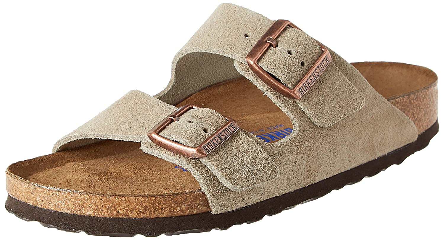 d27dab0fcdb66a Birkenstock Arizona Soft Footbed Suede Leather Narrow Womens Sandals Taupe   Amazon.com.au  Fashion